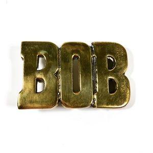 Vintage Solid Brass Bob Bobby Belt Buckle